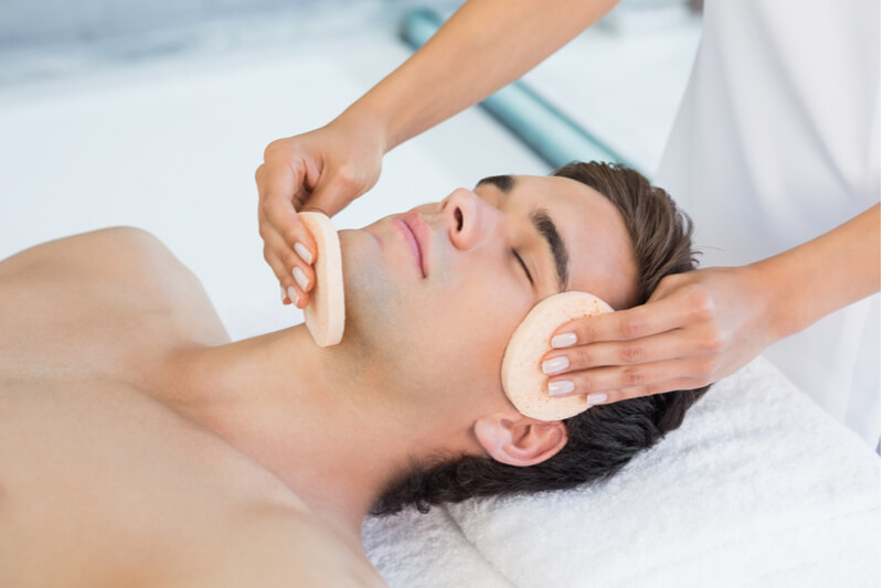 hydraclear facial for men